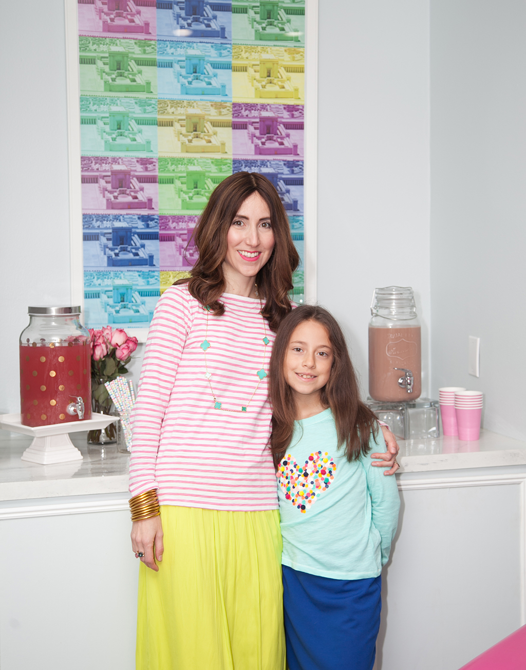 Drinks Station at Nine Year Old Girl Birthday Party by Yael from Jewish Latin Princess