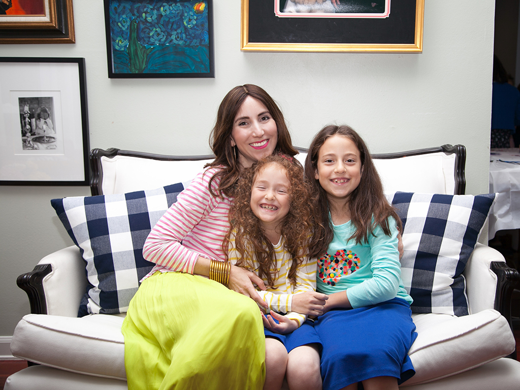 Jewish Mom and Daughters at Birthday Celebration