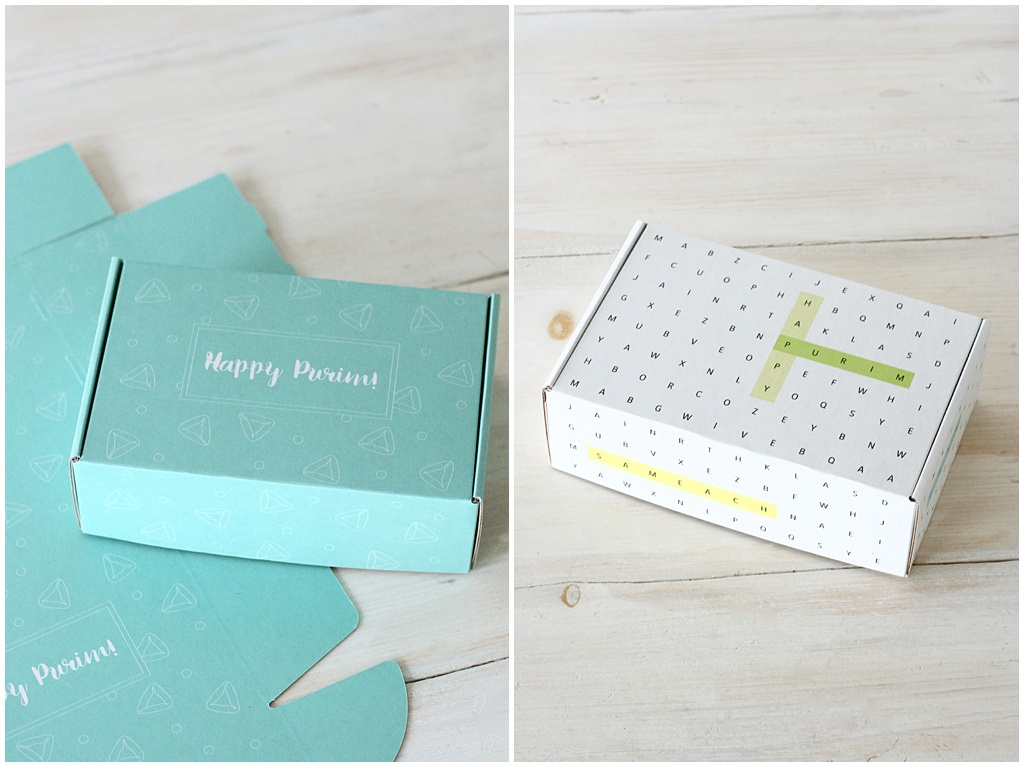 Purim Box Mishloach Manot by Chai and Home