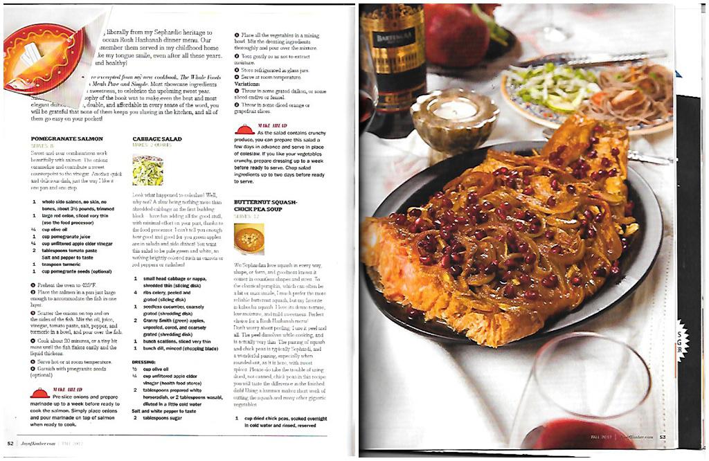 Joy of Kosher Pomegranate Salmon Recipe