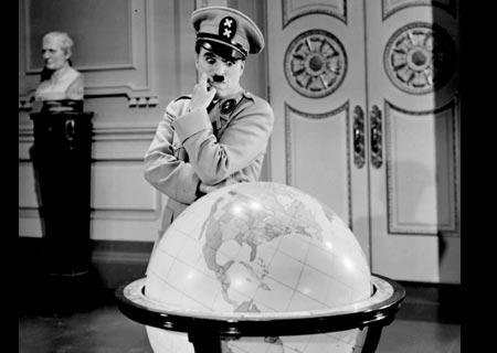 Hasil gambar untuk hitler losing globe charlie chaplin