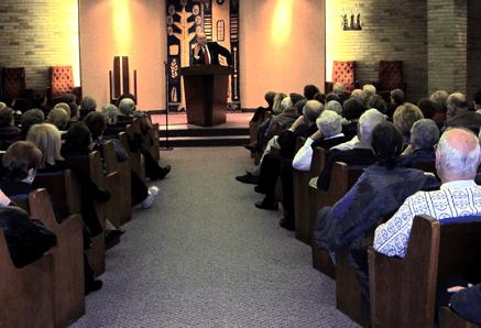 Rabbi Address speaking at Anshe Chesed Fairmount Temple, Beachwood, OH