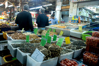 Exotic spices and produce on sale at the Carmel Market, Tel Aviv.