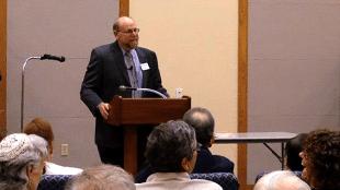 Rabbi Address speaking at the Jewish Federation of Southern Arizona's Handmaker House, April 23