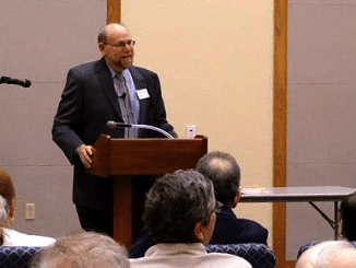 Rabbi Address speaking at the Jewish Federation of Southern Arizona's Handmaker House, April 23