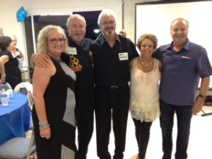 The author, second from right, at her 50th High School Reunion.
