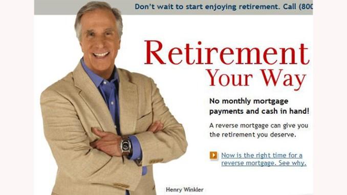"""""""Ultimate Baby Boomer"""" Henry Winkler, spokesing for reverse mortgages."""
