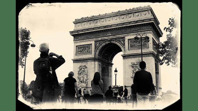 Arc De Triomphe, Paris, vintage photo effect. Steve Lubetkin Photo, Copyright ©2013. Used by permission.