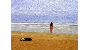 """Oil Painting based on """"The Gift,"""" photo by Vishal Jalan, via Flickr.com Creative Commons License"""