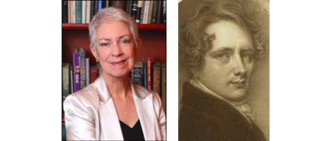 Cornelia Biddle, left, and her ancestor, Nicholas Biddle, about whom she is writing a novel.