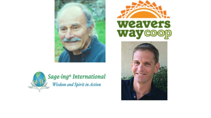Guests on the December 13, 2016 Boomer Generation Radio show are Jerome Kerner, left, of Sage International, and Jon Roesser of Weavers Way Cooperative
