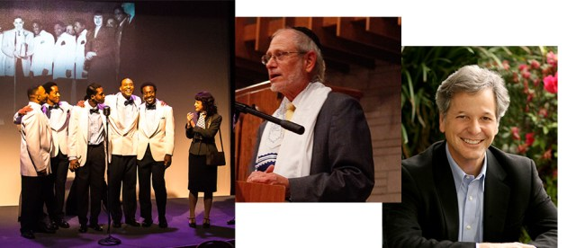 Rabbi Alan Berg, center, is involved in the