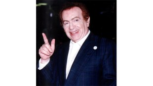 Jackie Mason at Gulfstream Park, Hallandale, FL, October 1, 2006 by Carl Lender. From Wikipedia under Creative Commons 3.0 License