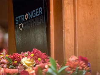 Logo seen at memorial service at Tree of Life Synagogue, Pittsburgh, PA (PA Gov. Tom Wolf official photos via Flickr.com)