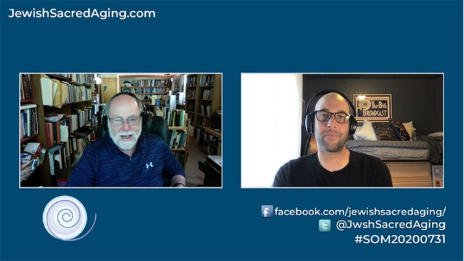 Rabbi Address chats with Prof. Ari Kelman of Stanford University in the July 31, 2020 Seekers of Meaning Podcast and TV show.