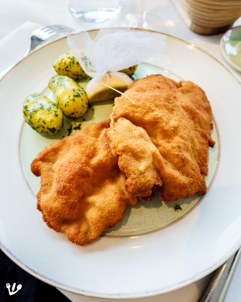 Golden Souffléd Schnitzel, Vienna's Famous Puffed Up Golden
