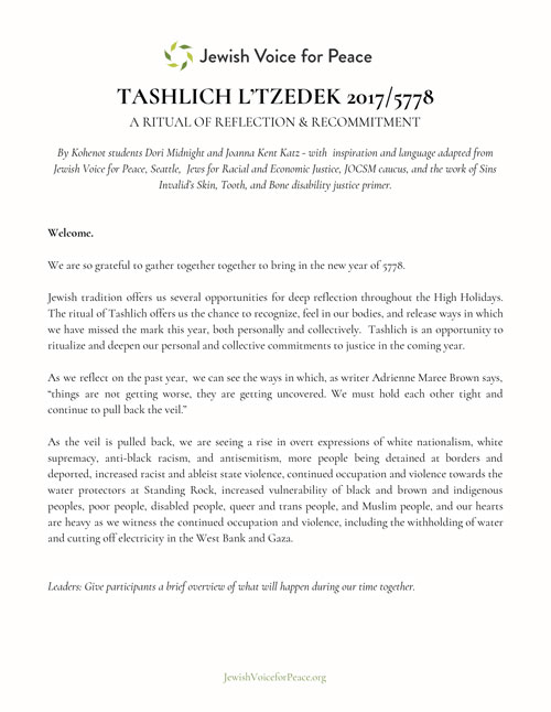 picture about Printable Tashlich Prayer named We Welcome 5779