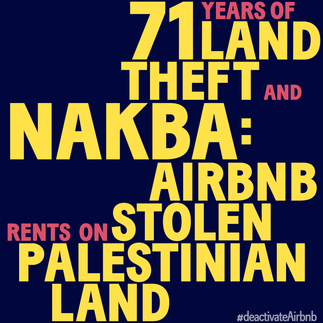 80,000 pledge to deactivate Airbnb for Palestinian rights