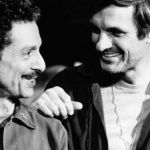 Allan Arbus as Major Sidney Freedman, MD on M*A*S*H with actor Alan Alda.