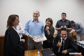 Olmert and Zaken in Court