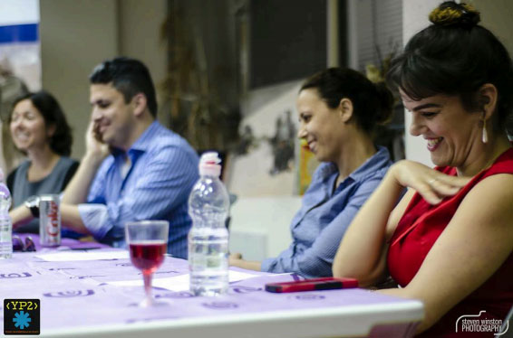 (From left to right) Danish-born Moderator Karoline Henriques, and the Israeli Panelists Yoni Itzhak, Miri Shaul, and Linor Deutsch.