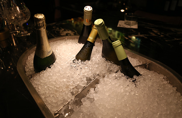 White wine and Champagne - Always ready!