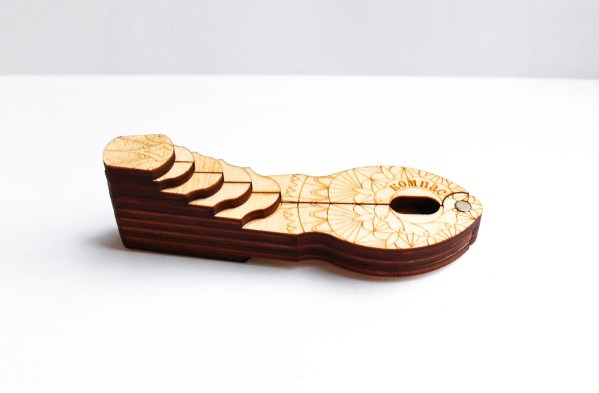 wooden case for jew's harp Compass