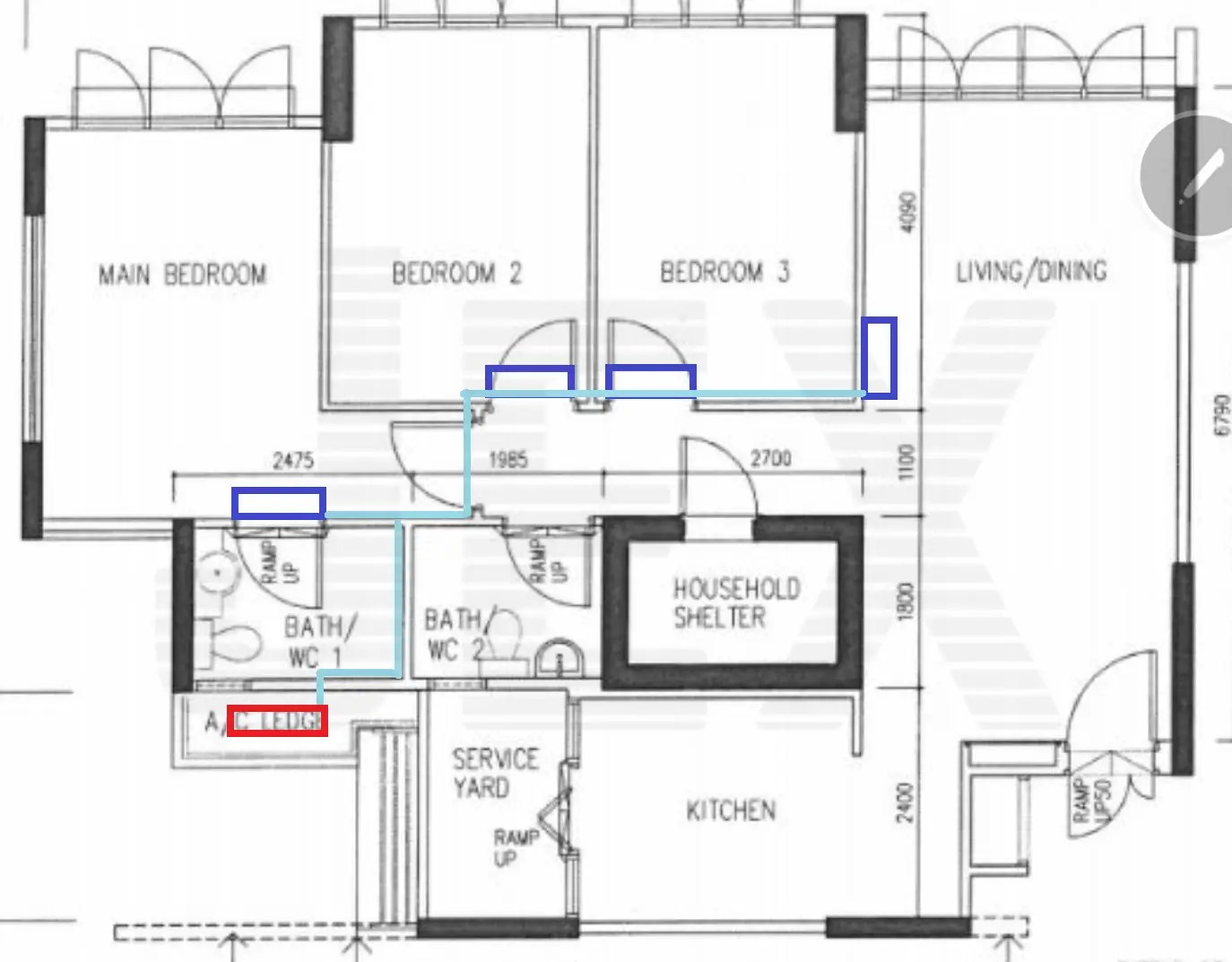 Diagram Of Residential Home