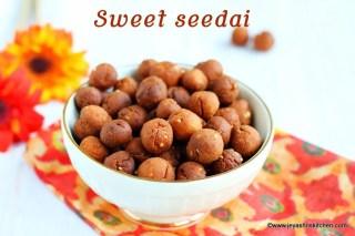 Wheat flour sweet seedai