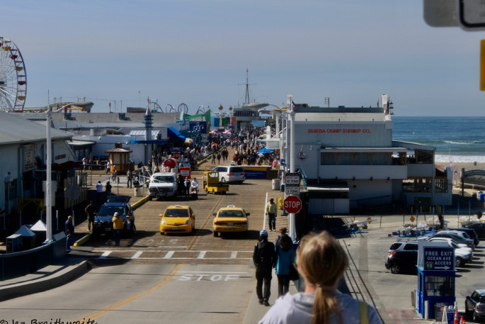 Taxis on Santa Monica Pier