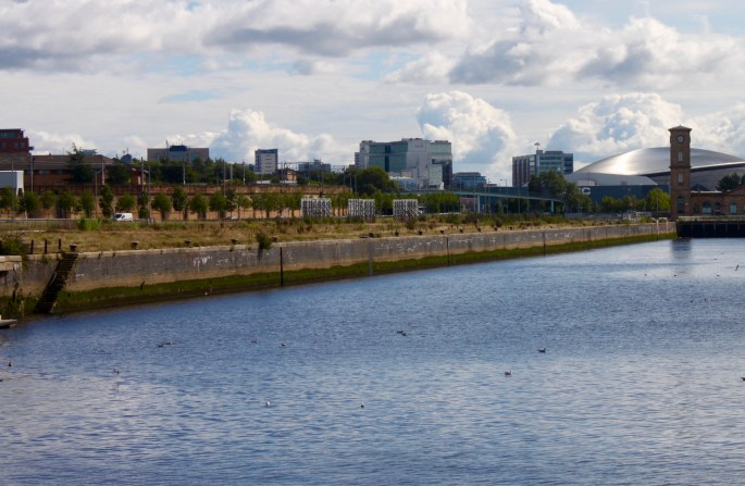 Quay on the river Clyde by Jez Braithwaite, Glasgow