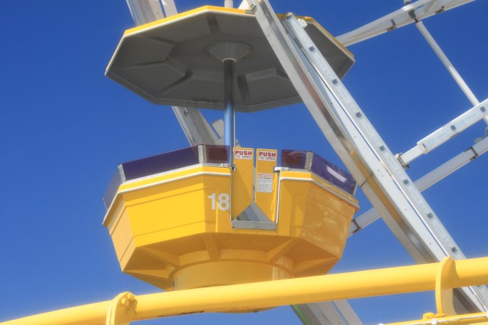 Ferris wheel gondola by Jez Braithwaite