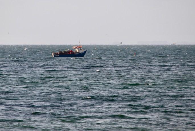 Lobster boat off Arbroath by Jez Braithwaite