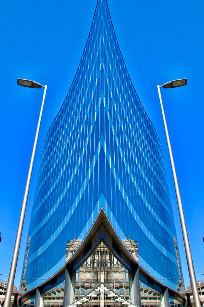 Reflections on Ingram Street - Vertical symmetry