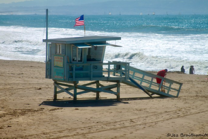 Lifeguard station on Santa Monica Beach