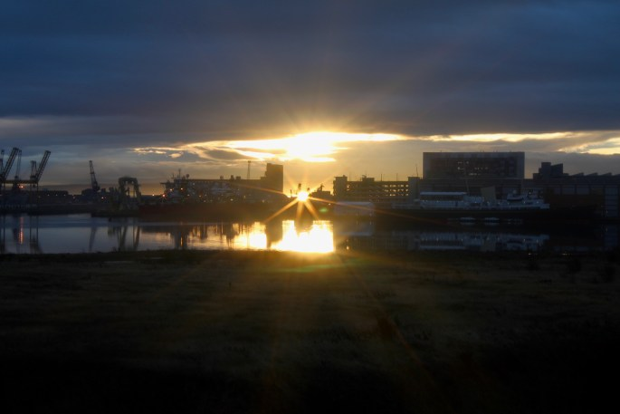 Winter sunset in Leith