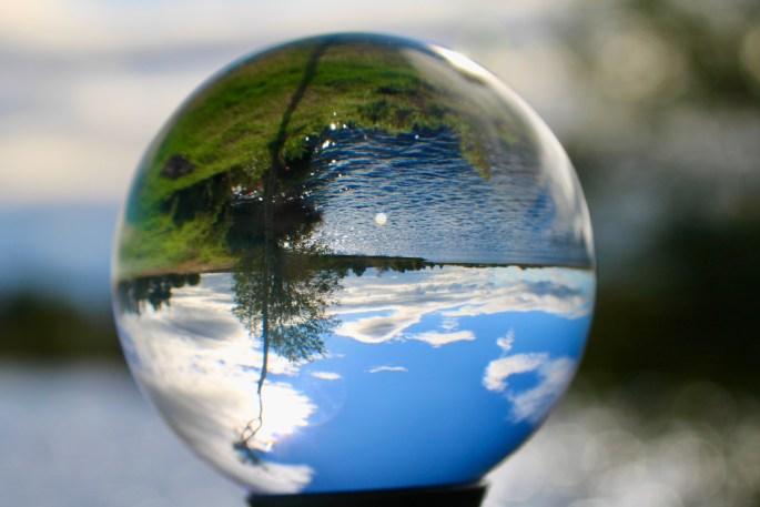 Fannyside Lochs through a lensball
