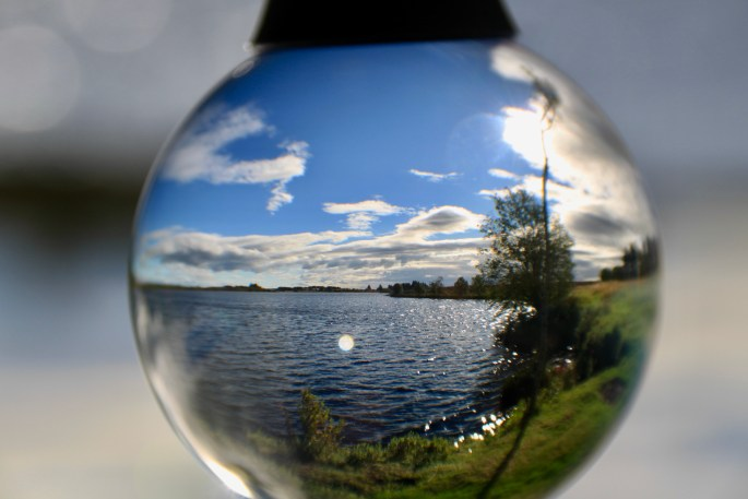 Fannyside Loch in a lensball