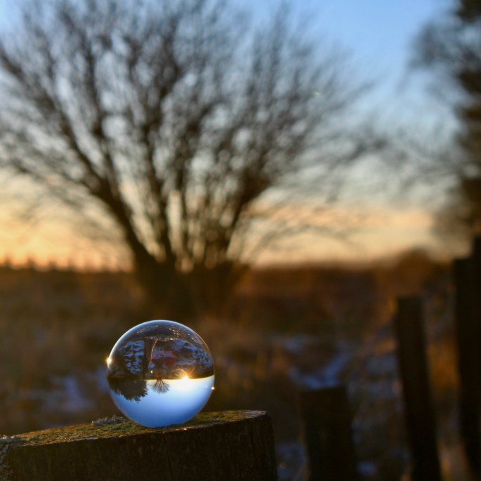Sunrise in a lensball