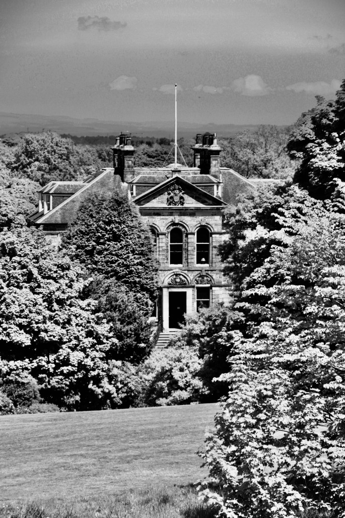 Cumbernauld House nestled amongst the trees
