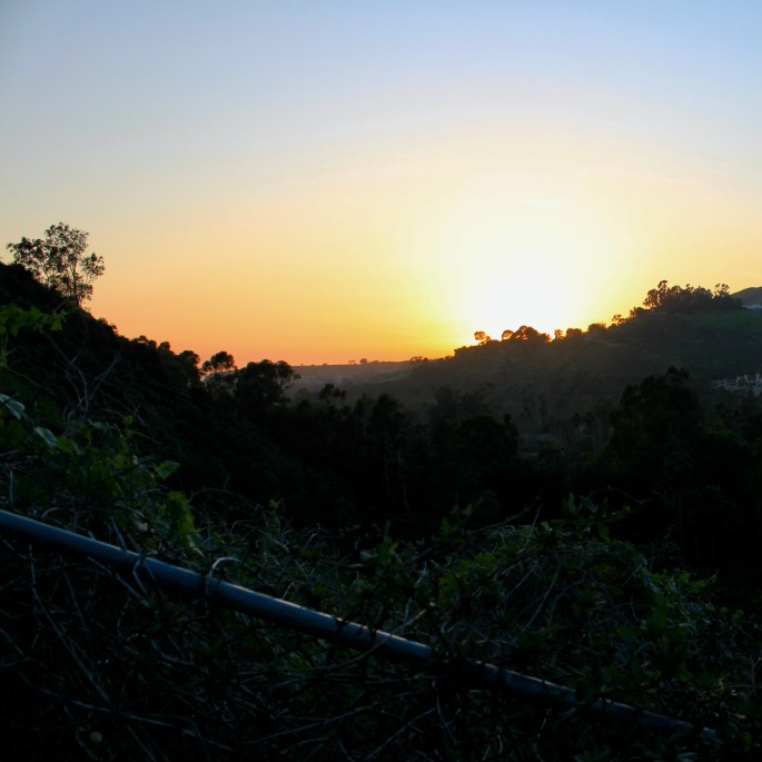 Sunset over Malibu