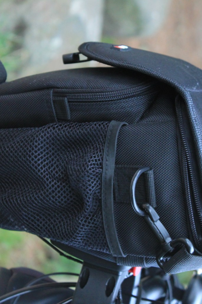 Camera bag modified to sit on Klickfix adapter