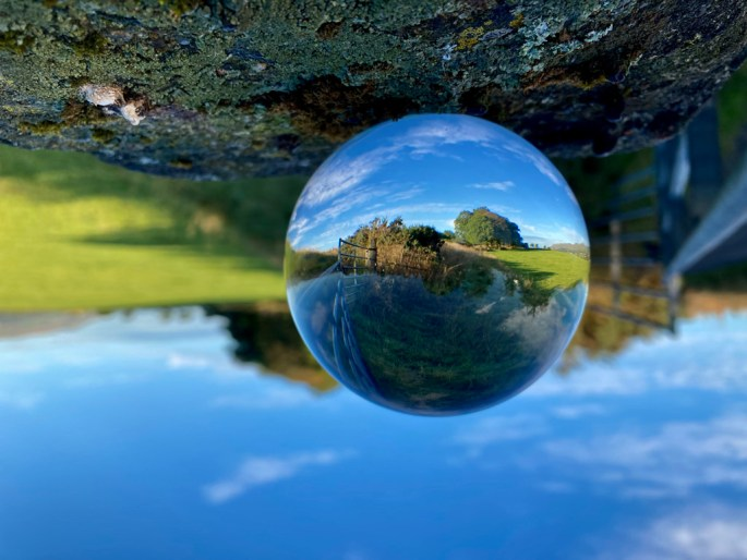 Old section of Antonnine Wall in a Lensball