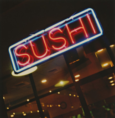 Took this outside Sushi Station, one of my favorite sushi places in Schaumburg, IL (northwestern Chicago suburb). As I've mentioned before, I love taking photos of neon with Polaroid film (SX-70 blend, in this case). Two great tastes that taste great together. :)