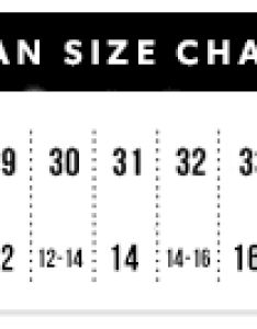 Size chart also women   jeans guide justfab rh