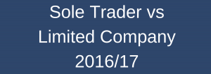 Sole Trader vs Limited Company 2016-17