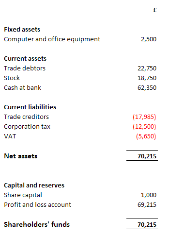Balance Sheet Example 2  Profit And Loss And Balance Sheet Template