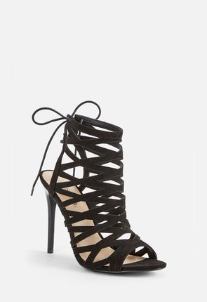Persa Lace Back Cage Heel