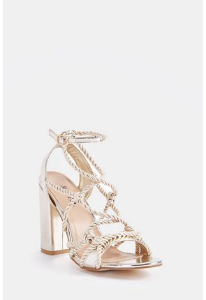 Saorsia Rope Strap Heeled Sandal