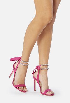 Dascia Rhinestone Lace-Up Heel